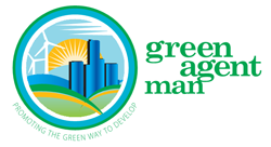 Green Agent Man Logo