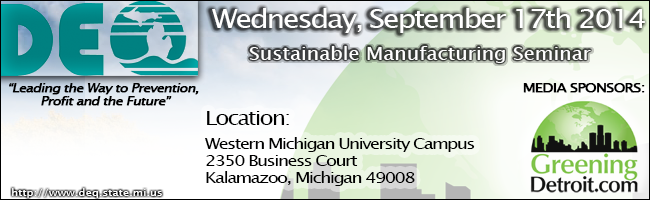 DEQ - Sustainable Manufacturing Seminar