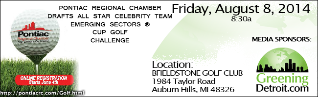 PONTIAC REGIONAL CHAMBER DRAFTS ALL STAR CELEBRITY TEAM EMERGING SECTORS ® CUP GOLF CHALLENGE
