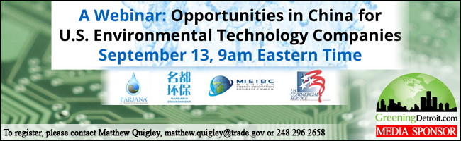 Webinar-Opportunities in China for U.S. Environmental Technology Companies
