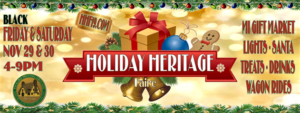 Holiday Heritage Faire, Packard Proving Grounds, Black Friday & Saturday (Nov 29 & 30)